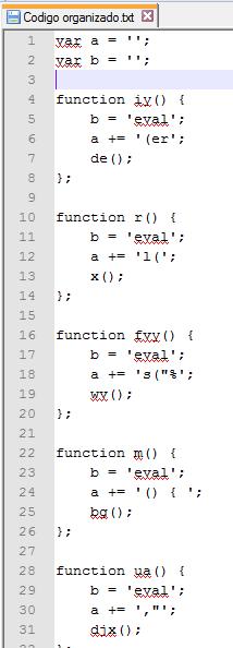 Figura 3: Conteúdo desofuscado do script malicioso
