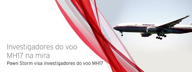 Pawn Storm visa a equipe de investigação do voo MH17